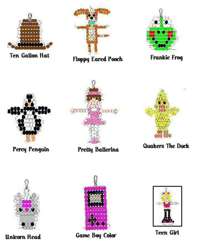 Pony Bead Patterns & Crafts Instructions & for Kids to Make